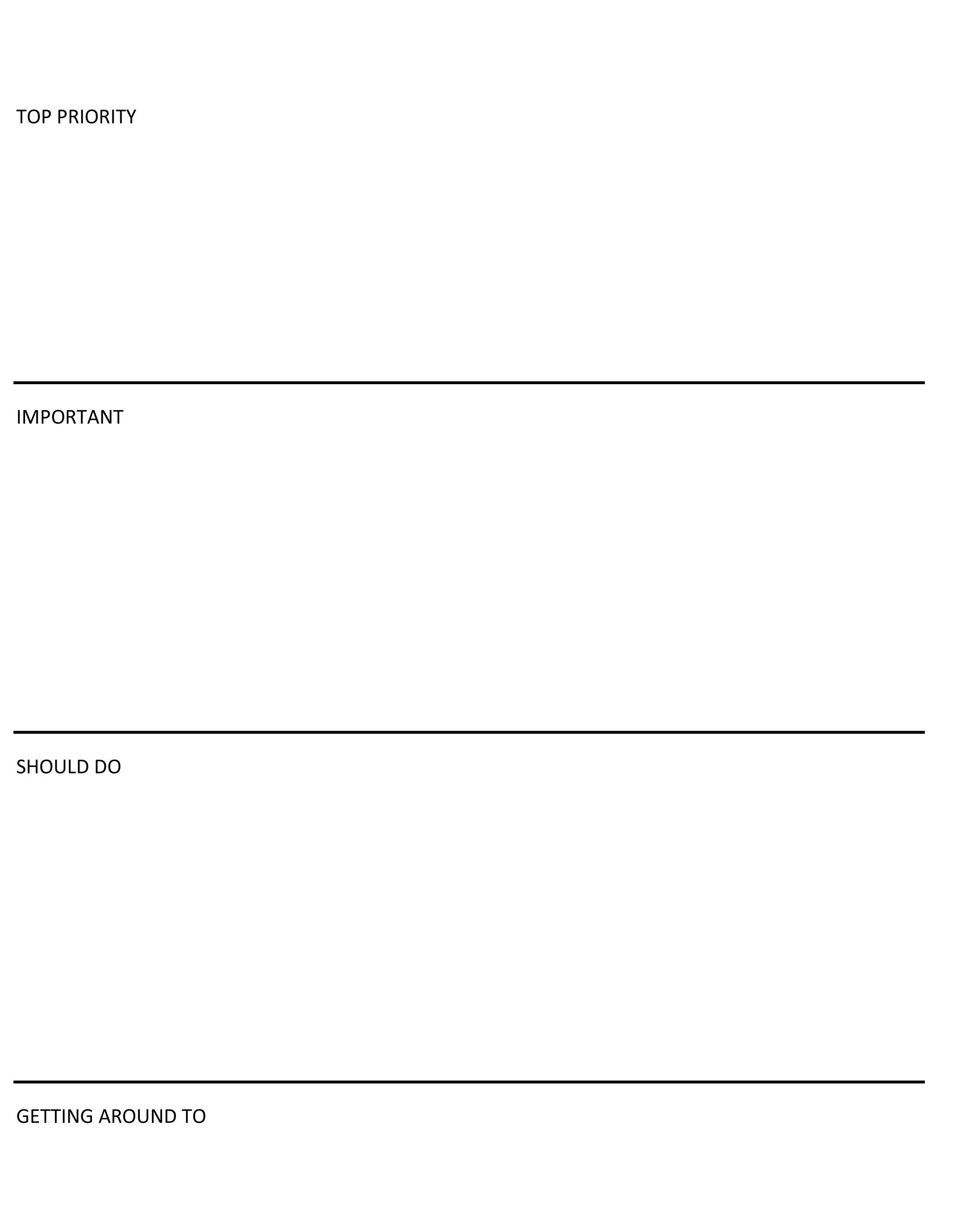microsoft word to do list template